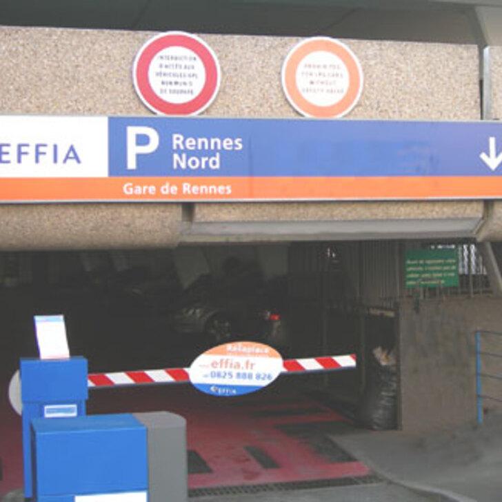 Offiziell Parkhaus EFFIA GARE DE RENNES NORD (Überdacht) Parkhaus RENNES