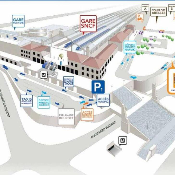 Parking Oficial EFFIA GARE DE MARSEILLE SAINT-CHARLES P1 (Cubierto) MARSEILLE