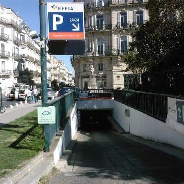 Öffentliches Parkhaus EFFIA MONTPELLIER ARC DE TRIOMPHE (Überdacht) Parkhaus Montpellier