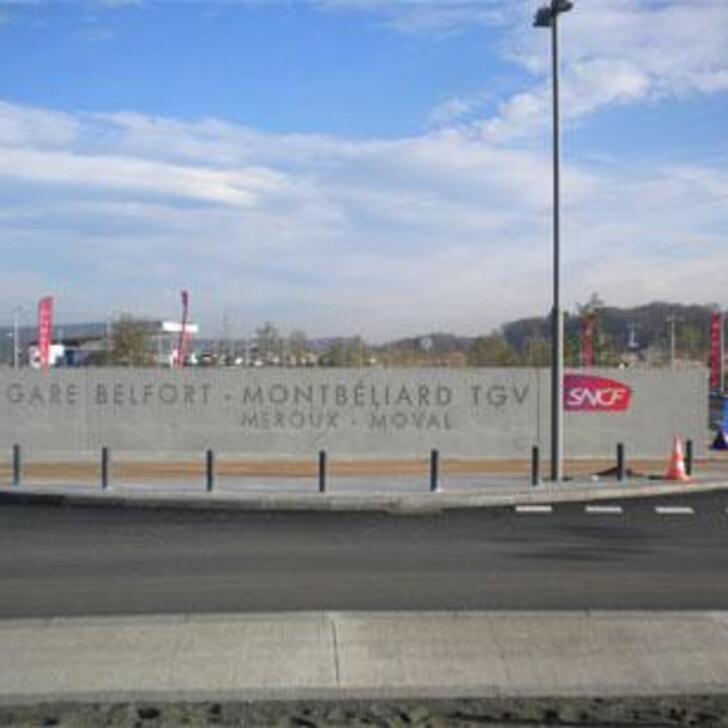 EFFIA GARE DE BELFORT-MONTBÉLIARD TGV Officiële Parking (Exterieur) Parkeergarage BELFORT MONTBELIARD