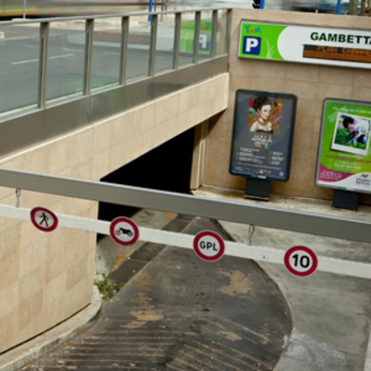 Öffentliches Parkhaus TAM GAMBETTA (Überdacht) Montpellier