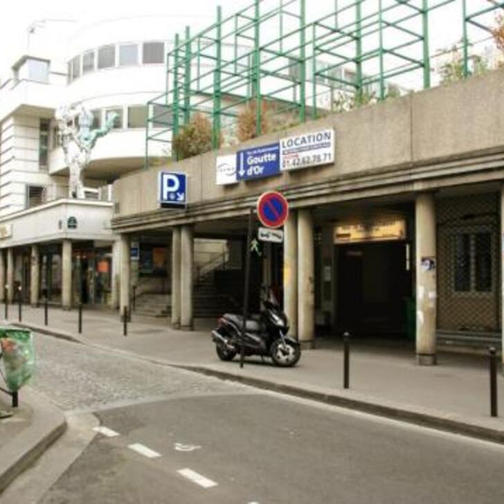 Öffentliches Parkhaus SAEMES GOUTTE D'OR (Überdacht) Paris