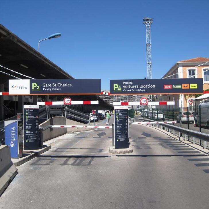 Offiziell Parkhaus P2 EFFIA GARE DE MARSEILLE SAINT-CHARLES (Extern) Parkhaus Marseille