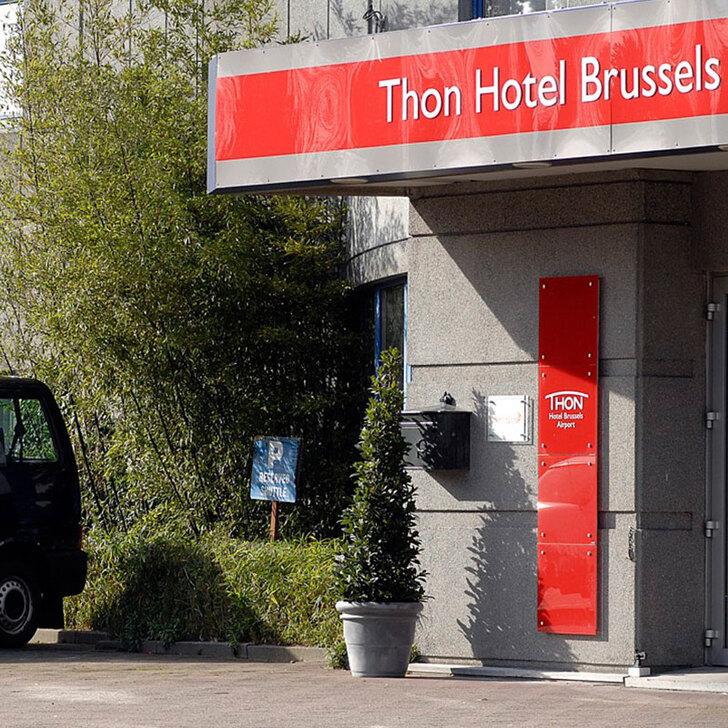 THON HOTEL BRUSSELS AIRPORT Hotel Parking (Exterieur) Machelen