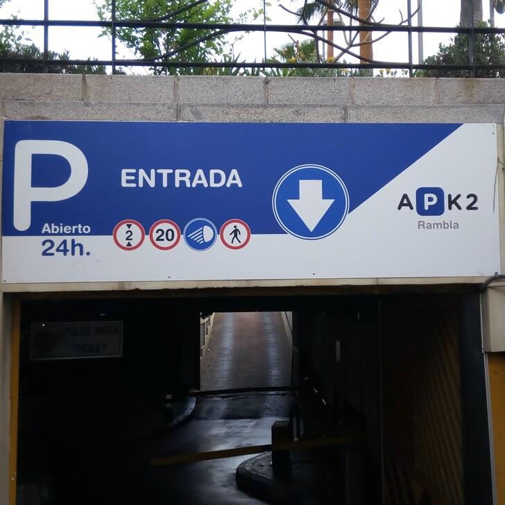 Öffentliches Parkhaus APK2 RAMBLA II (Überdacht) Parkhaus Almería