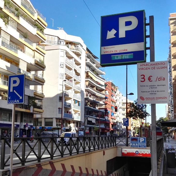 Öffentliches Parkhaus PARKIA VIRGEN DE LUJÁN (Überdacht) Parkhaus Sevilla