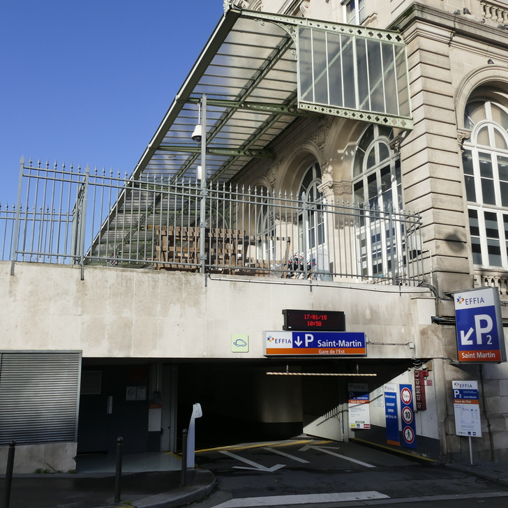 Parking Officiel EFFIA GARE DE L'EST SAINT-MARTIN P2 (Couvert) PARIS