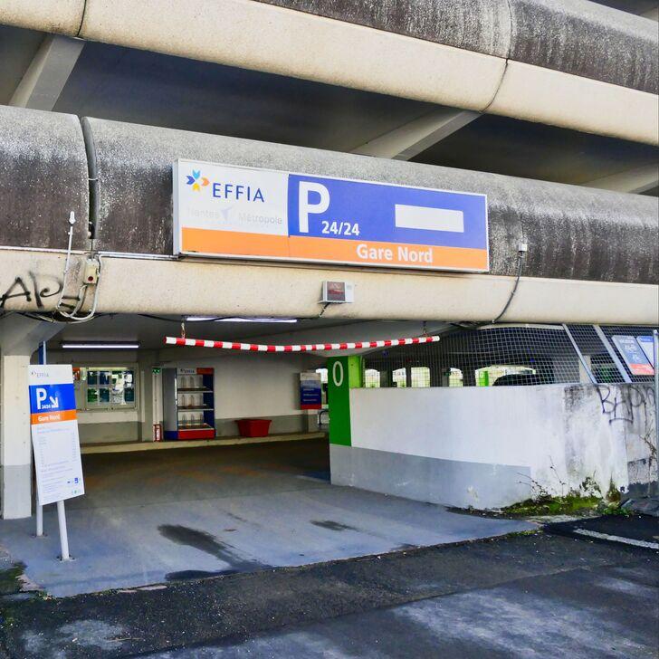 Parking Officiel EFFIA GARE DE NANTES Nord (Extérieur) NANTES