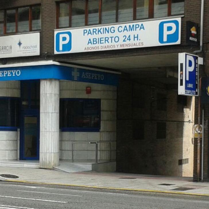 Öffentliches Parkhaus CAMPA (Überdacht) Parkhaus Oviedo, Asturias