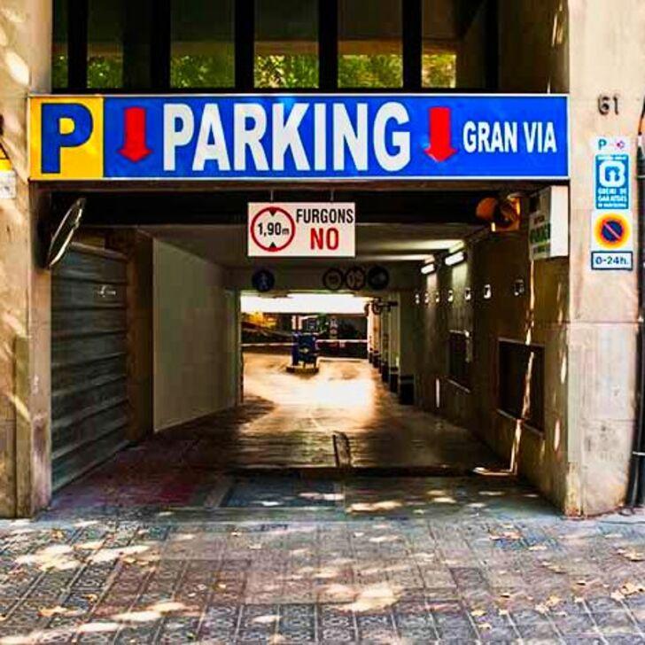 Öffentliches Parkhaus GRAN VIA (Überdacht) Parkhaus Barcelona