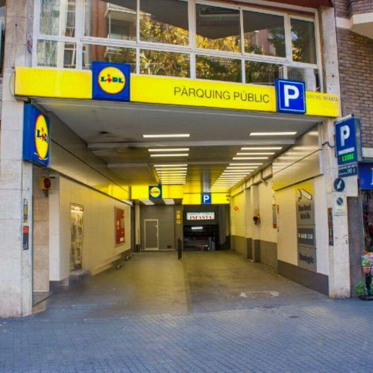 Öffentliches Parkhaus INFANTA (Überdacht) Parkhaus Barcelona