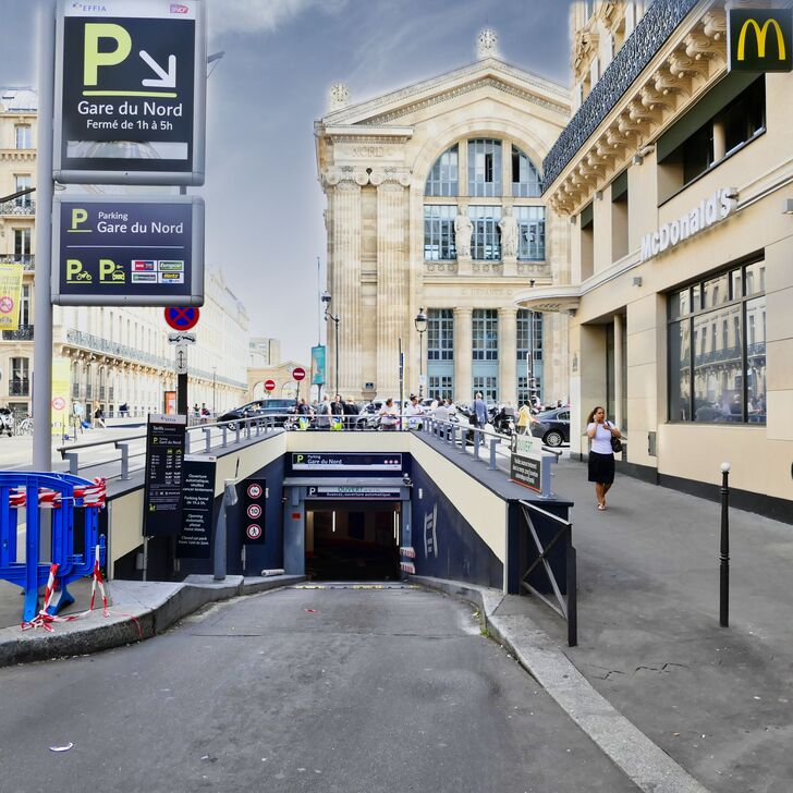 parking officiel effia gare du nord couvert paris place de parking paris onepark. Black Bedroom Furniture Sets. Home Design Ideas