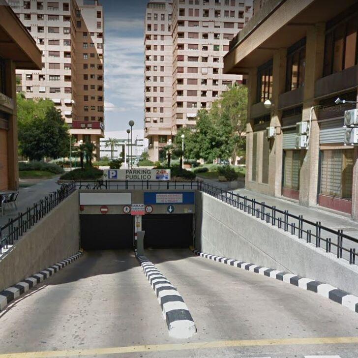 Öffentliches Parkhaus APARCAMIENTO MESTALLA (Überdacht) Parkhaus Valencia