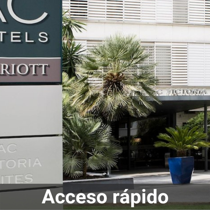 Parking Hotel AC HOTEL BY MARRIOTT VICTORIA SUITES (Cubierto) Barcelona