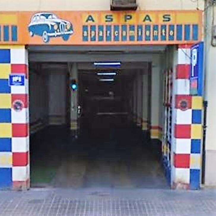 Öffentliches Parkhaus GARAJE ASPAS (Überdacht) Parkhaus Valencia