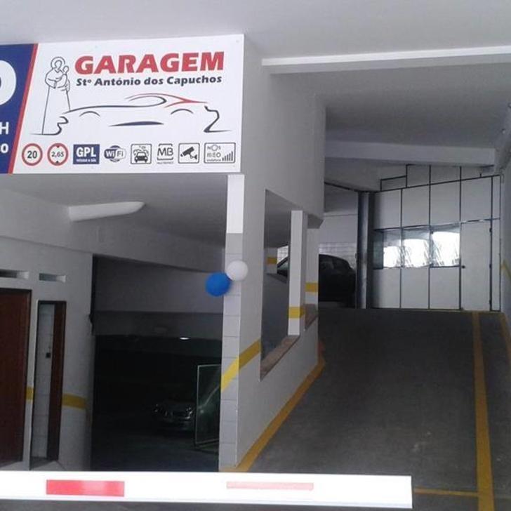 Öffentliches Parkhaus SANTO ANTONIO DOS CAPUCHOS (Überdacht) Lisboa