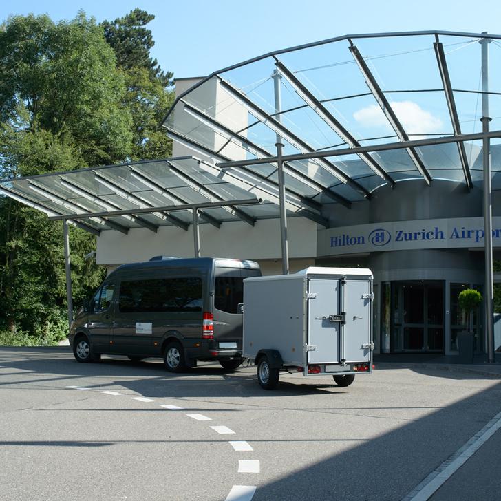 Parque de estacionamento Estacionamento Hotel HILTON ZURICH AIRPORT (Exterior) Opfikon