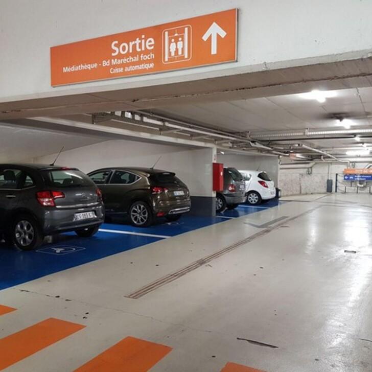 Parque de estacionamento Estacionamento Oficial EFFIA MÉDIATHÈQUE D'ANTIBES (Coberto) Antibes